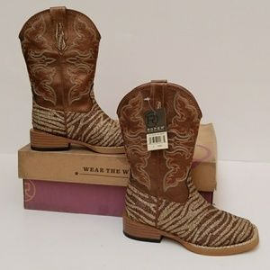 "Roper Kids Sparkle Boots ""Wear the West"""